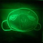 Caro, die Lampe in Grün